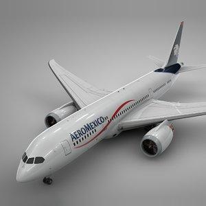 3D model boeing 787 dreamliner aeromexico