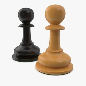 chessmen pawn model