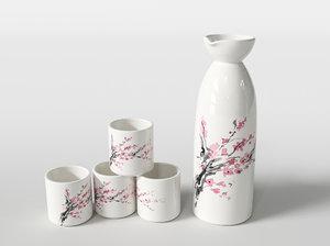 sake set 3D model