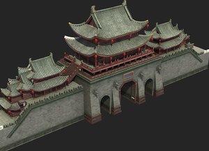 3D ancient city walls model