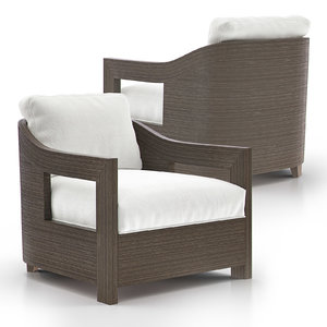 3D model tracy lounge chair armchair