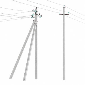 electric poles model