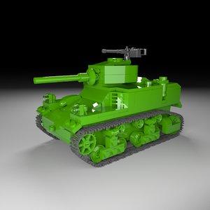 tank bricks 3D model
