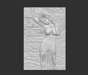 3D cnc carving model