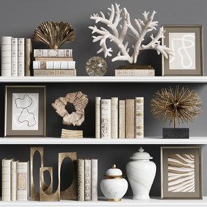 3D model decor set sculptures