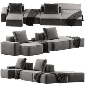 3D dukas lay modular sofa model