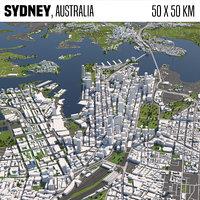 Sydney Australia 50x50km