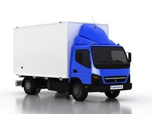 shipping truck 3D