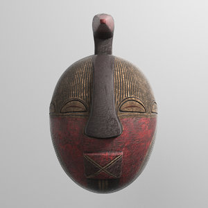 mask african 3D