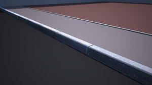 3D model curb