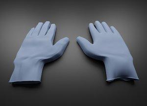 medical gloves 3D model