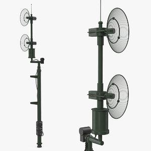 military antenna green 3D model