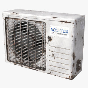 air conditioner old 3D model