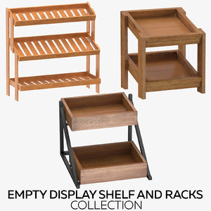 display shelf racks 3D model