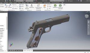 3D model automatic colt
