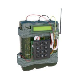 3D c4 bomb model