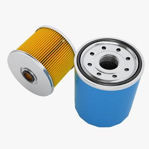 3D oil filter