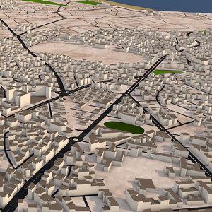 casablanca morocco buildings 3D