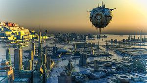 sci-fi city model