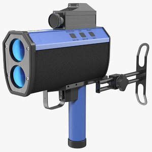 3D traffic laser speed gun model