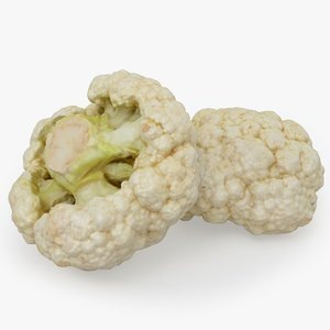 3D food vegetable cauliflower