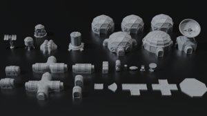 print planetbase terrain set 3D model