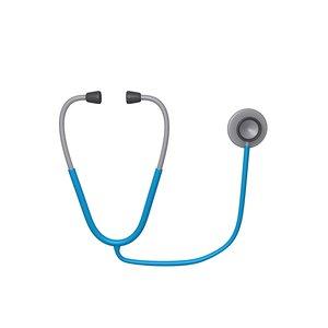 stethoscope cartoon 3D model
