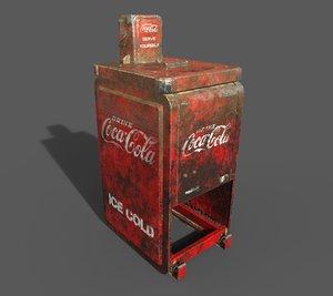 3D old cola machine