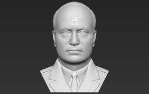 3D benito mussolini bust printing model