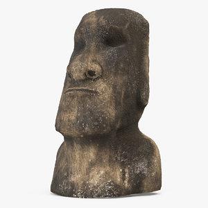 3D ahu akivi moai