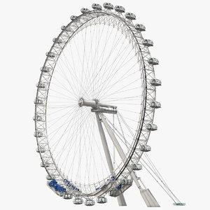 3D cantilevered observation wheel model