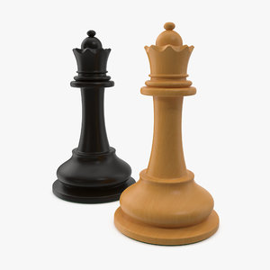 3D chessmen queen