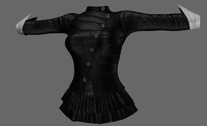3D clothingdressskirtshirtpant model