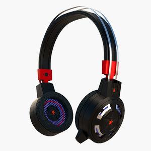 headphone headset 3D model