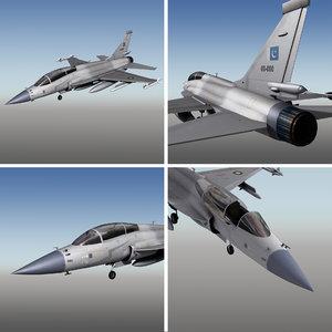 3D jf-17 b fighter aircraft