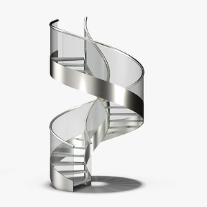 spiral stair staircase 3D model