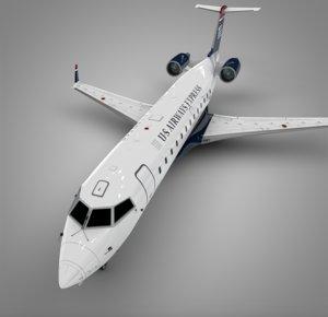 3D air wisconsin airways express model