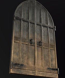 3D medieval door