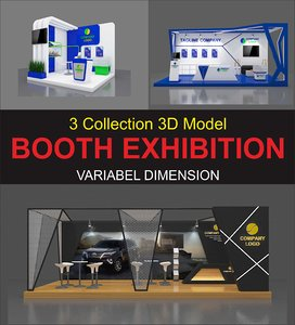 3D 3 booth exhibition