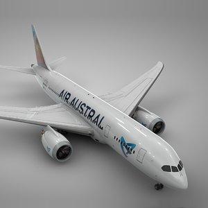3D boeing 787 dreamliner air