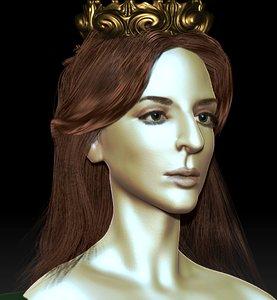 female head model