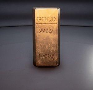 1 kilo gold bars 3D model