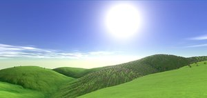 forest meadow landscape 3D model