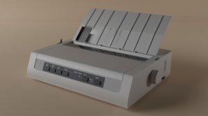 3D microline printer model