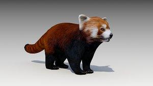 red panda animations 3D model