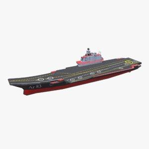 aircraft carrier ship pbr 3D model