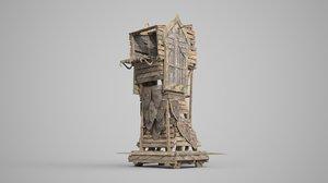 3D siege vehicle ancient