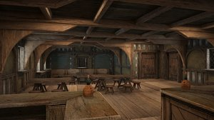 3D model ancient tavern inn