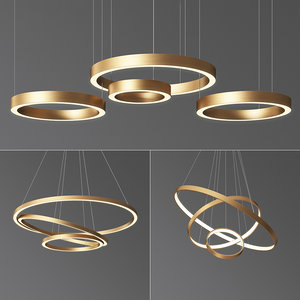 3D ring chandelier 2 model