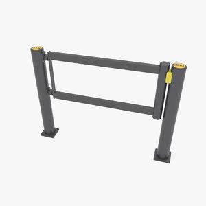 3D gate swing model